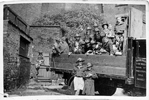 boys off for a day out circa 1937